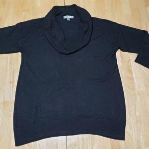 LARRY LEVINE Gray Cowl Neck Sweater sz L
